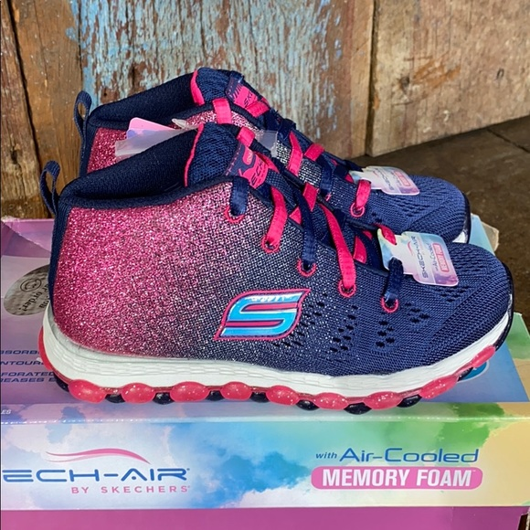 Skech Air Memory Foam Glitter Sneakers